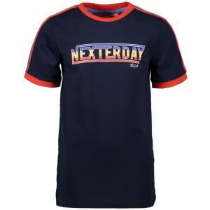Donkerblauw t-shirt Stripe Nexterday