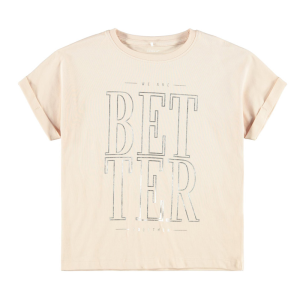 Lichtroze t-shirt Bisan