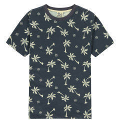 Grijs t-shirt Blue Palms - L