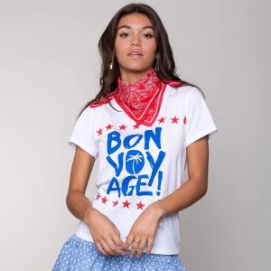Wit t-shirt Bon Voyage Classic