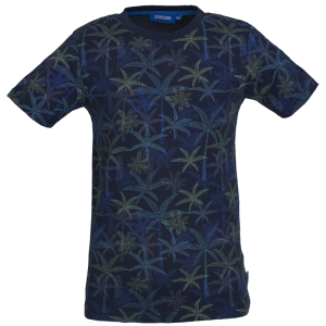 Donkerblauw t-shirt Borneo