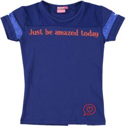 Donkerblauw t-shirt Dylana