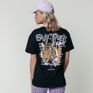 Zwart t-shirt Easy Tiger Loosefit