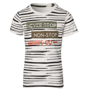 Wit gestreept t-shirt Faber
