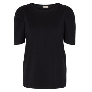 Zwart t-shirt Fenja Puff