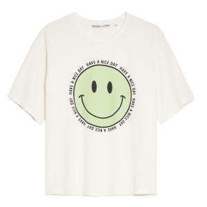 Wit t-shirt Happy Face