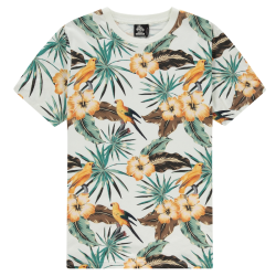 Wit geprint t-shirt Hidden Bird