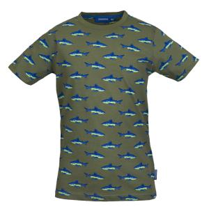 Groen geprint t-shirt Jawsy