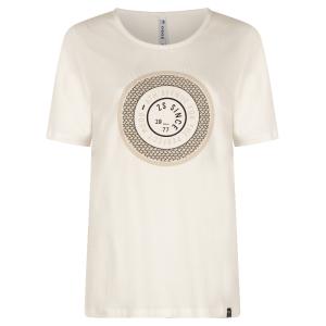 Wit geprint t-shirt Lenny