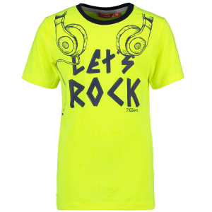 Geel t-shirt Let's Rock