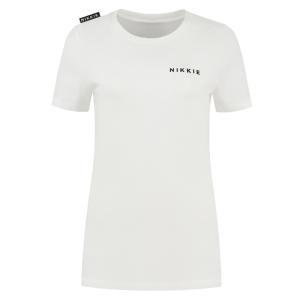 Wit t-shirt NIKKIE Logo