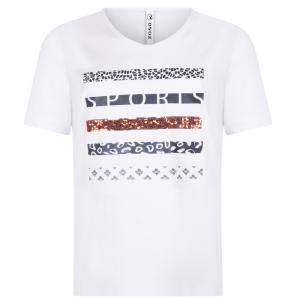 Wit t-shirt Mabel