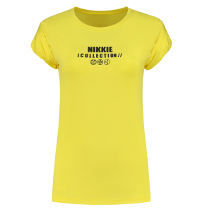 Geel t-shirt NIKKIE Icon