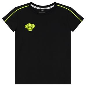 Zwart met geel t-shirt Piping