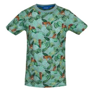 Lichtgroen geprint t-shirt Rajah