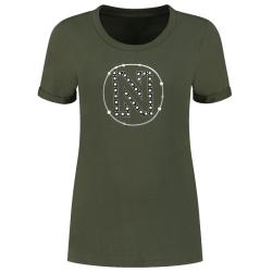 Groen t-shirt Round Pearls