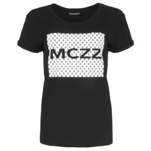 Zwart geprint t-shirt Sira