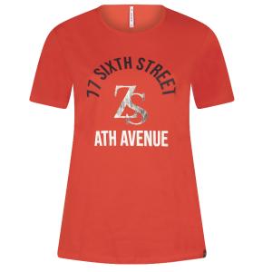 Rood t-shirt Sixth