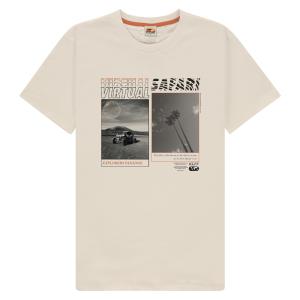 Ivoorwit t-shirt Virtual