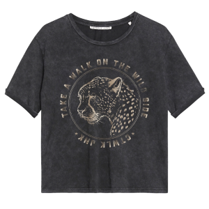 Donkergrijs t-shirt Wild Side