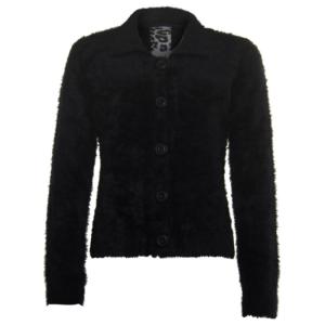 Zwart hairy vest 33238