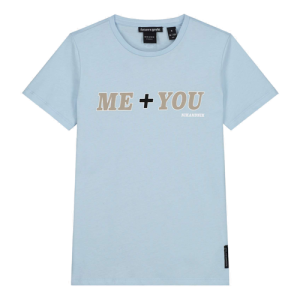 Lichtblauw t-shirt You & Me