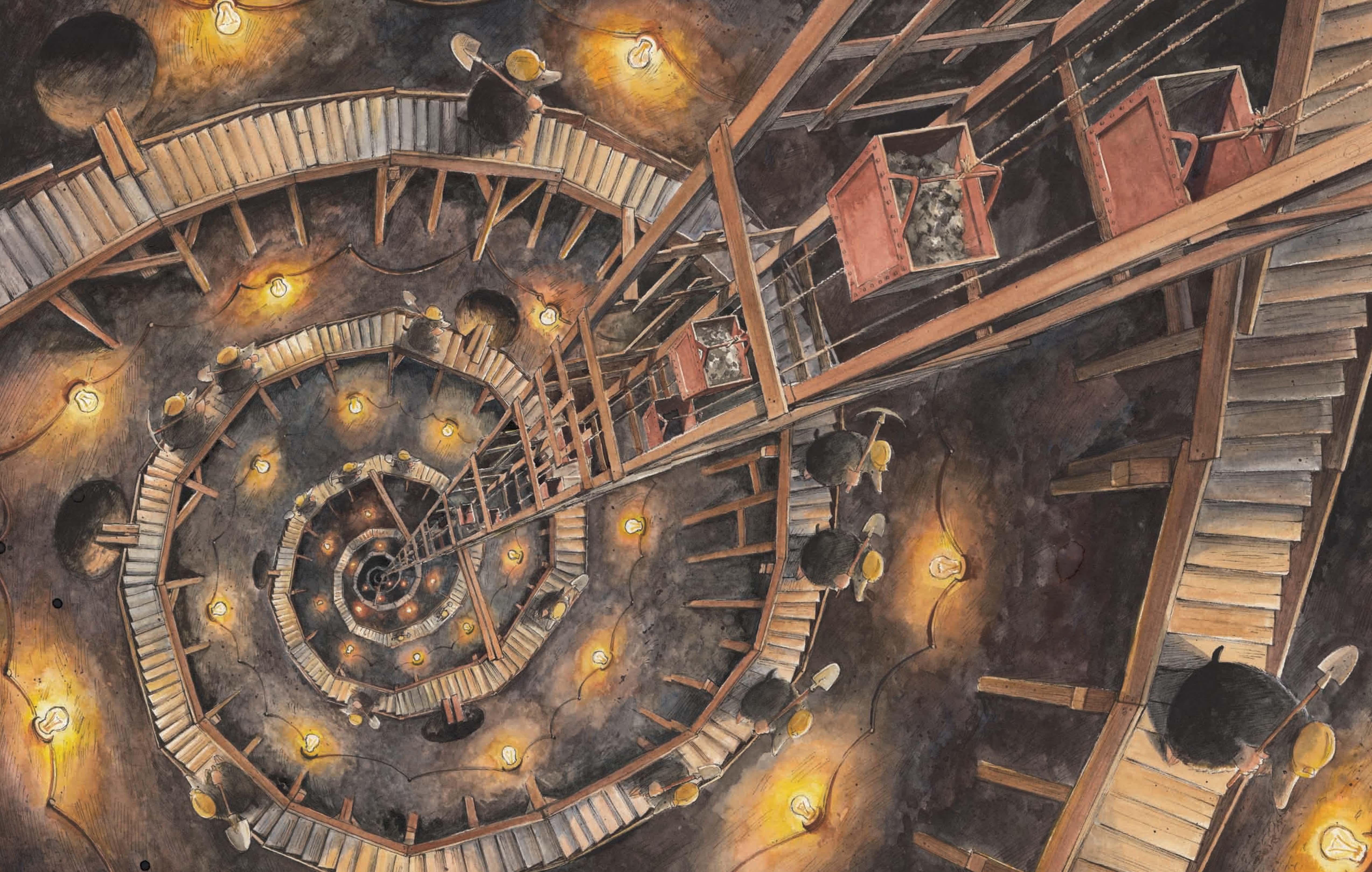 Иллюстрация из книги Город Кротов, Торбен Кульманн
