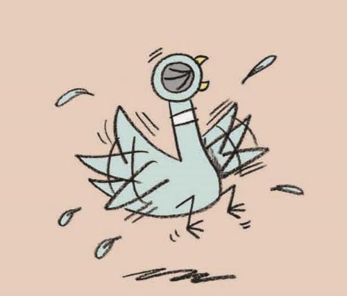 Иллюстрация из книги Голубь находит хот-дог (Мо Виллемс))