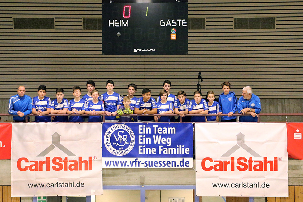 Guest juniors of Bundesliga teams - Carl Stahl U14 Indoor Football Junior Cup 2016