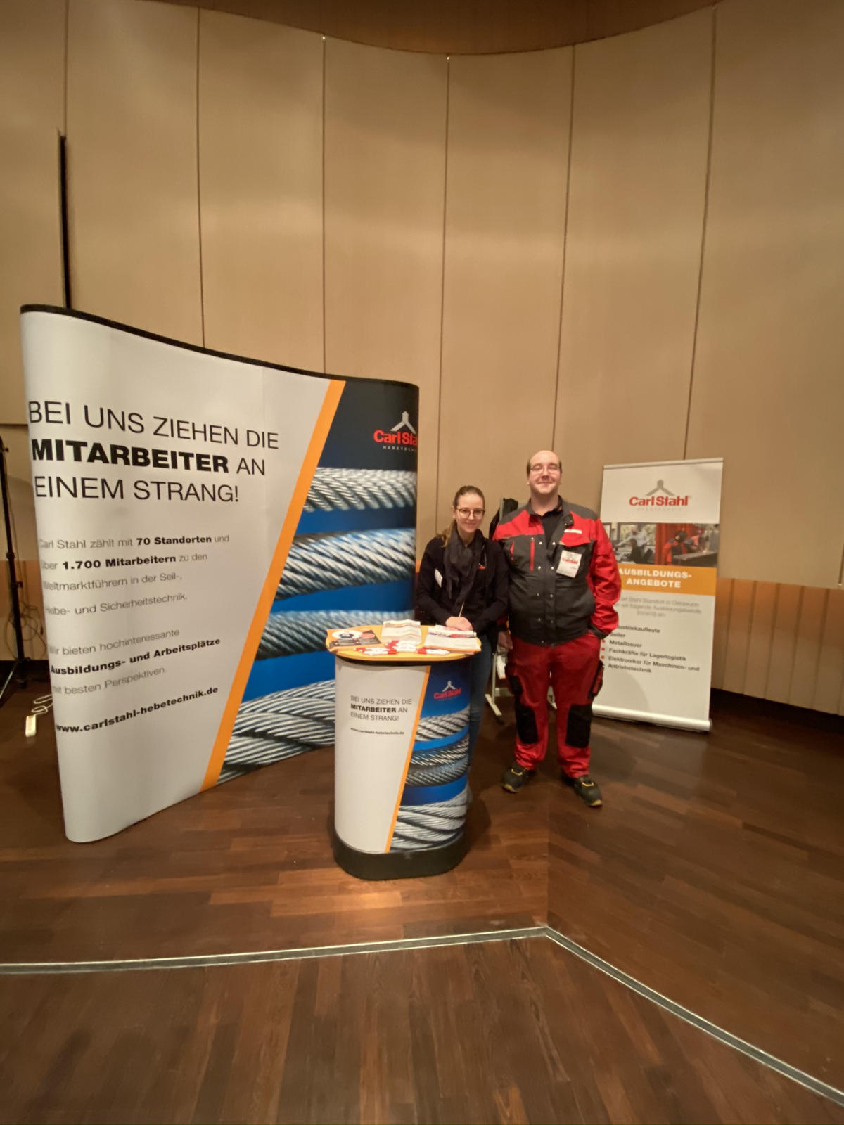Zero-eight 12 instead of 0815 - Carl Stahl Süd GmbH at the job event in Taufkirchen