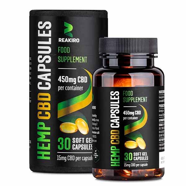 CBD Gel Capsules 450 mg 30 pcs