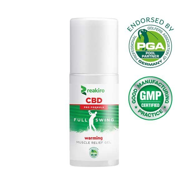 CBD Golf Pro Formula Muscle Relief Gel Warming