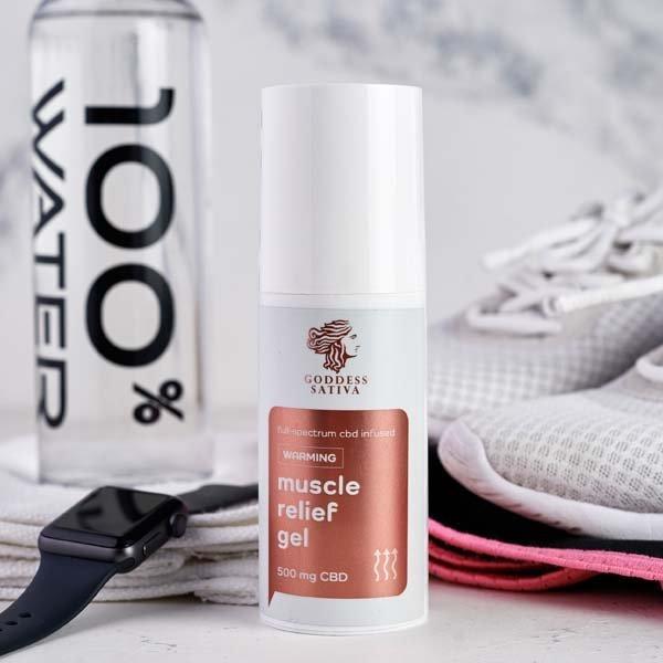 Muscle Relief Warming Gel, 500 mg CBD, 100 ml