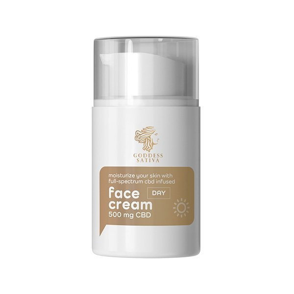 Moisturising Day Face Cream 500 mg CBD, 50 ml