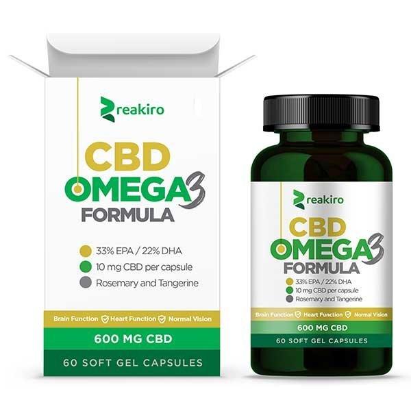 CBD Capsules Omega 3, 600 mg 60 pcs