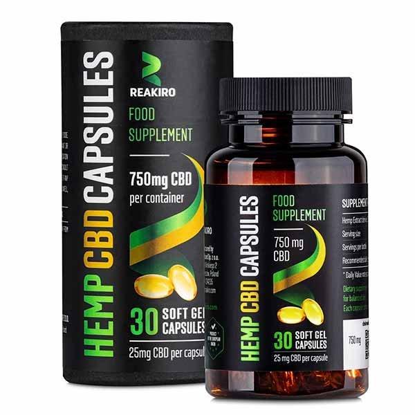 CBD Gel Capsules 750 mg 30 pcs