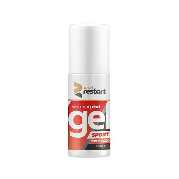 0% THC Warming Muscle Relief Gel 500mg CBD, 100ml