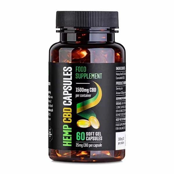 CBD Gel Capsules 1500 mg 60 pcs