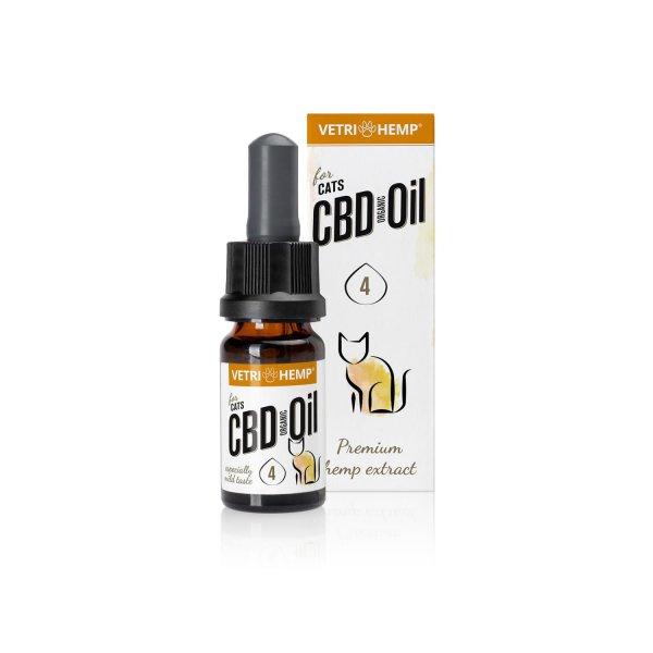 Organic CBD Oil 4% for cats, 10ml