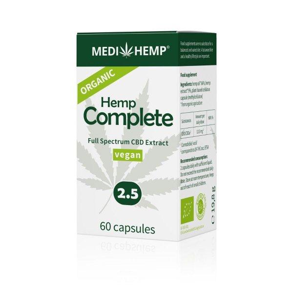 Organic Hemp Complete Capsules 2.5%