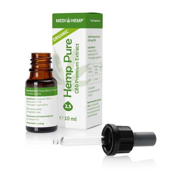 Organic Hemp Pure 2.5%