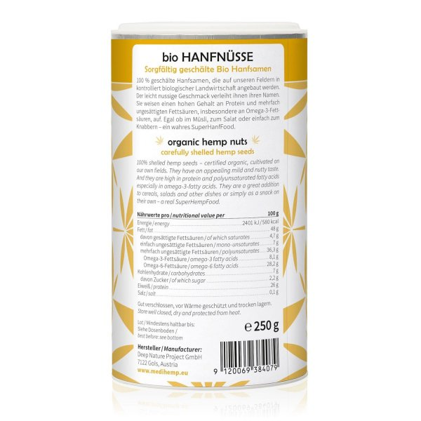 Organic Hemp Nuts 250g