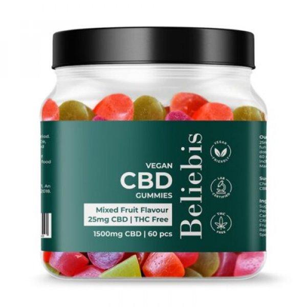 60 Vegan CBD Gummies 1500mg