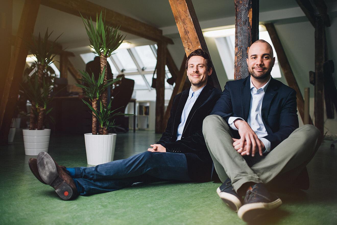 Die Companisto-Gründer David Rhotert und Tamo Zwinger(Copyright:Max Threlfall / Profund Innovation)