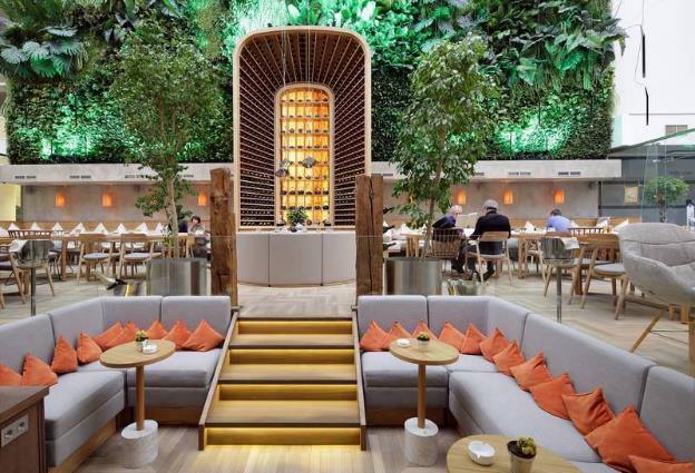 Дизайн интерьеров ресторанов в эко стиле 141