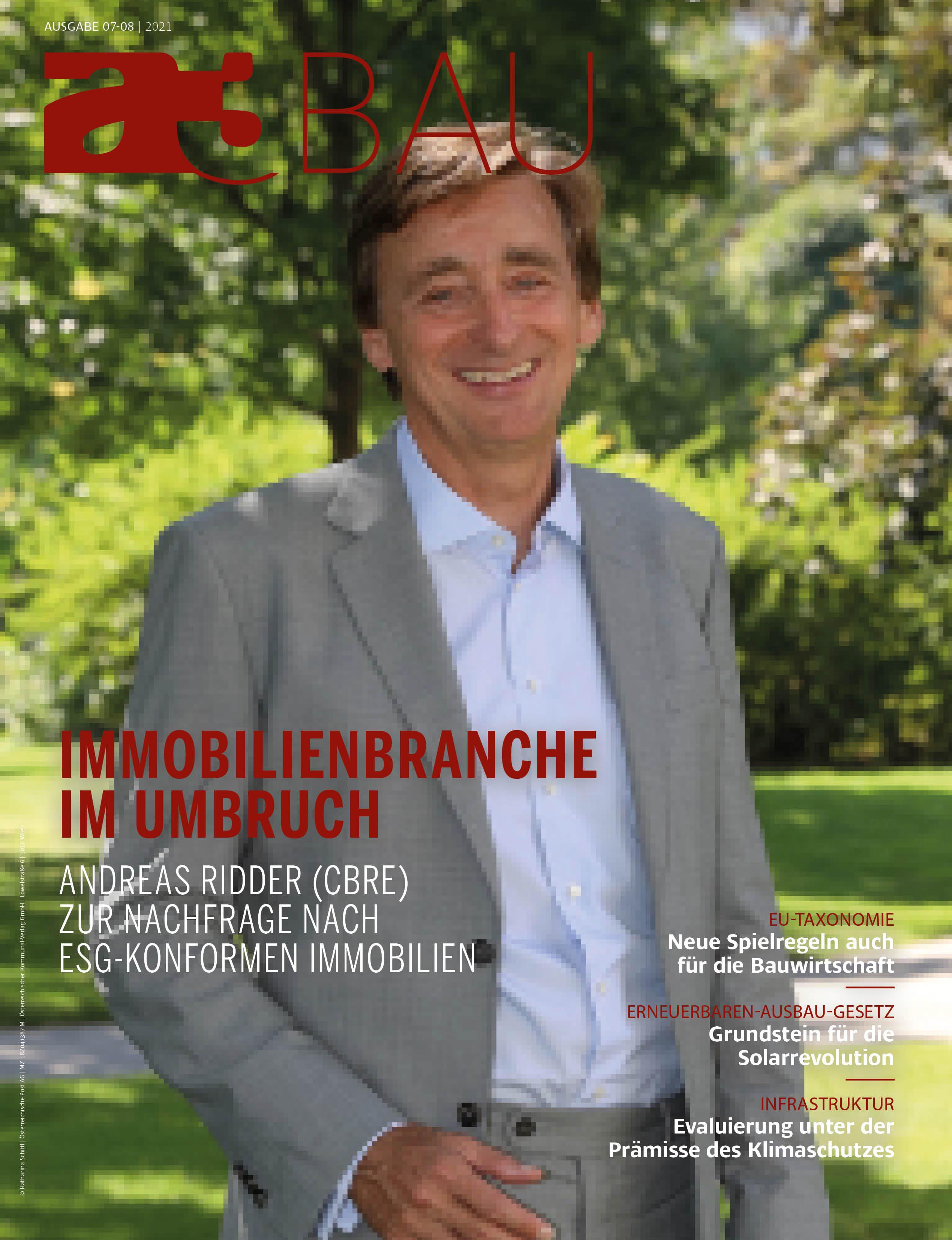 Andreas Ridder auf cover a3BAU