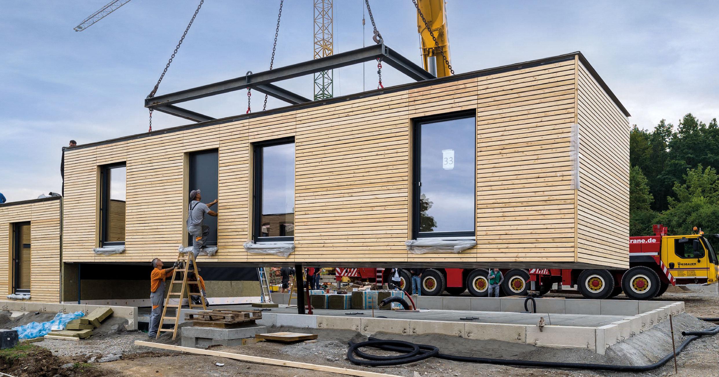 Eine Wohneinheit wird im Baukastensystem aufgebaut | © Zooey Braun