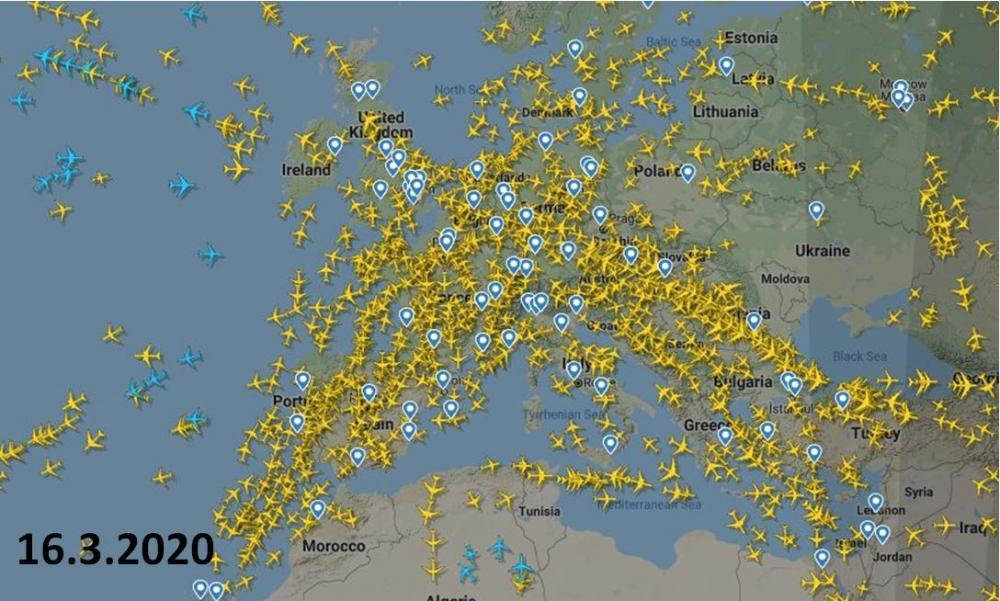 Flugverkehr Corona