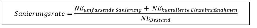 Formel Sanierungsrate