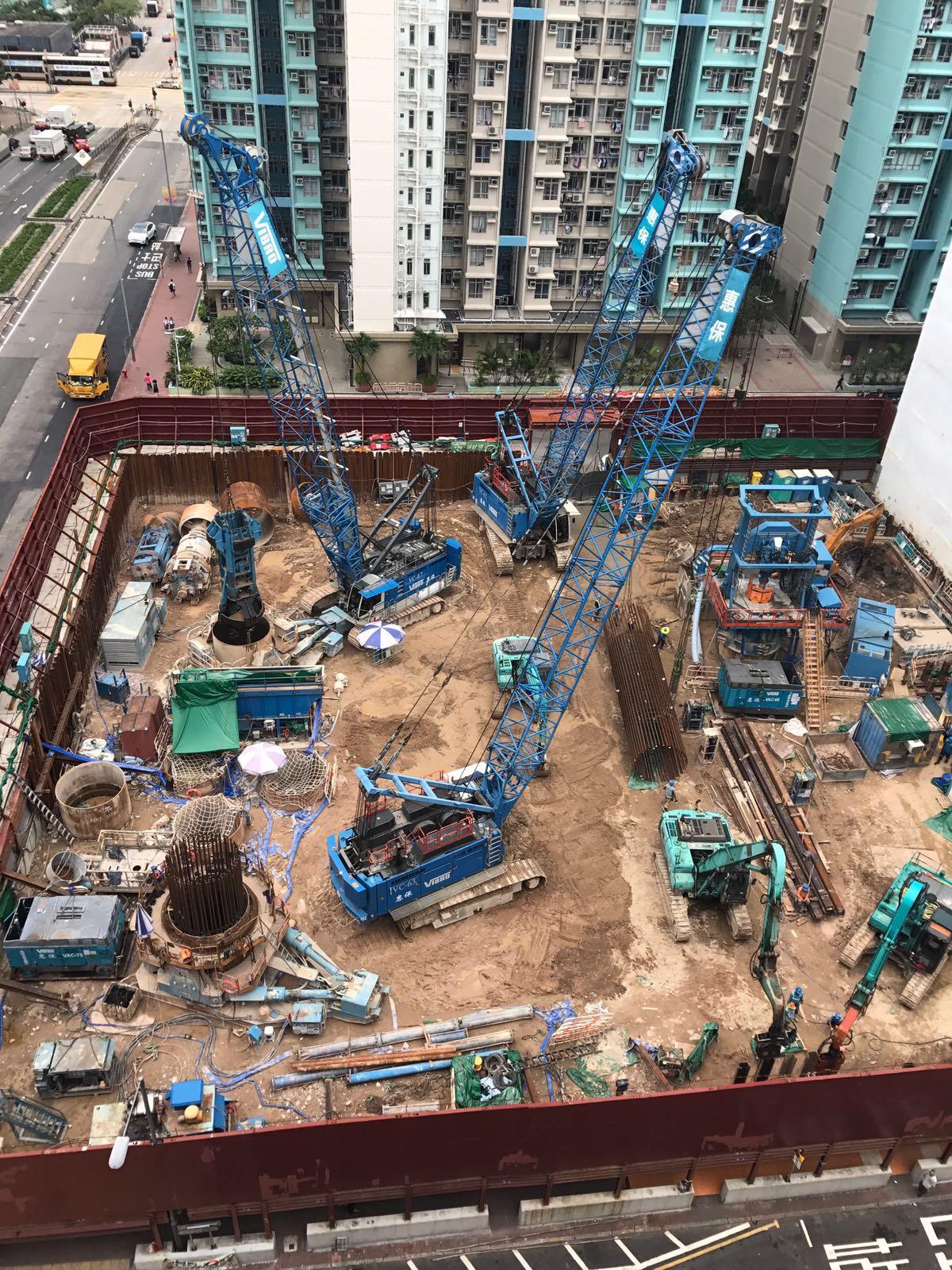 Liebherr Hydroseilbagger Hongkong
